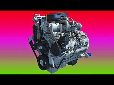 Chevrolet Silverado Duramax 3D Engine Model