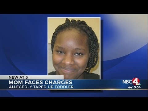 Reynoldsburg woman arrested after reportedly taping toddler son to wall