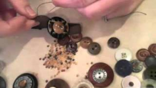 How to Make a Vintage Button Bracelet by Candace Jedrowicz