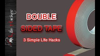 Double Sided Tape - 3 Simple Life Hacks
