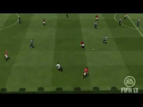 Diving header Robin van Persie Manchester United 3 -- 0 Newcastle Utd  EA SPORTS Football