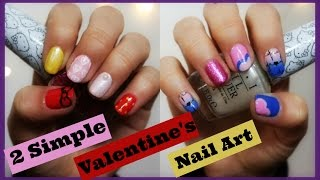 2 Simple Valentine's Nail Art | Hello Kitty by Opi