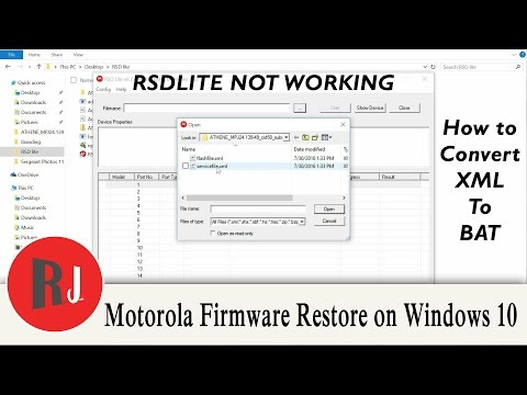 How to Firmware Restore your Motorola Device on Windows 10 without RSDlite