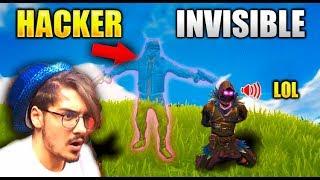 Me encuentro a un hacker invisible en Fortnite...?