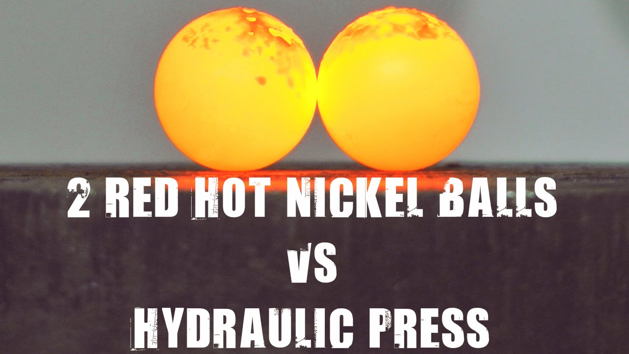 What Happens When You Crush Red Hot Nickel In A Hydraulic Press
