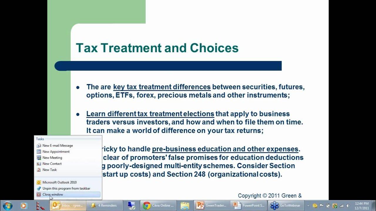 Forex trading tax treatment
