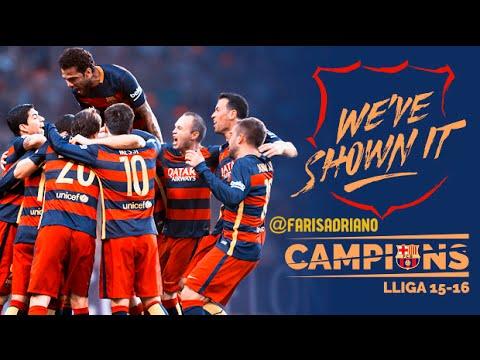 Granada VS FC Barcelona 0-3 - FC Barcelona 201516 La Liga Celebration HD - 1452016