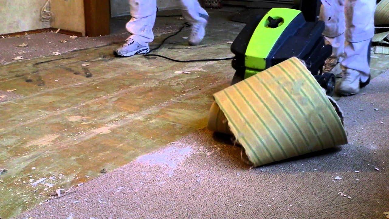 Teppich entfernen - YouTube