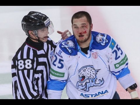Дамир Рыспаев - драка в матче ЕртIс - Номад 06.03.2016