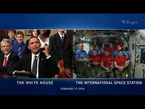 President Obama's Call to the International Space Station