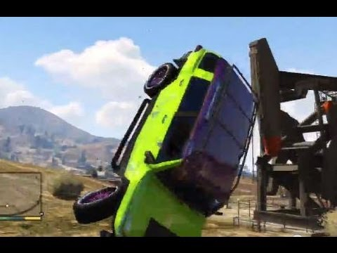 GTA 5 BIG ACCIDENT CRASH AND STUNT CLIMB BIG JUMP