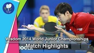 2014 Junior Worlds Highlights Anton Kallberg Swe Vs Yu Ziyang Chn