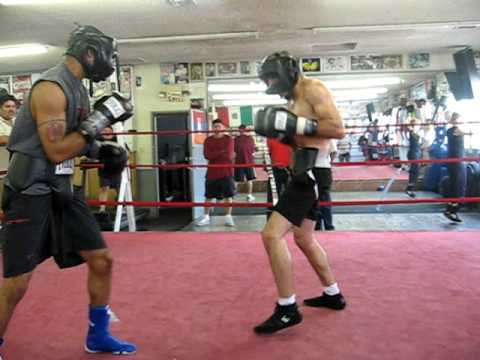 Boxing Prospects Rashad Holloway and Alfredo Angulo sparring Image 1