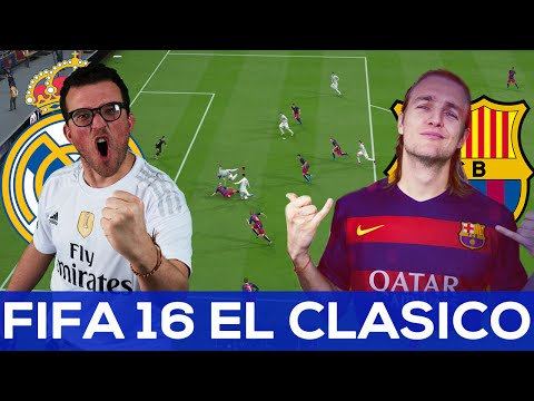 FIFA 16 predicts El Clasico | Real Galacticos vs Nou Nation | First Half
