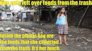 Travel to the Philippines and Meet a Family Who Eat Left Over Foods from the TRASH.