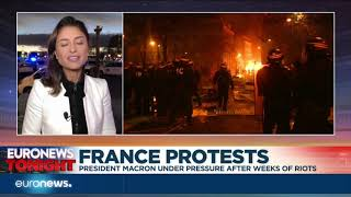 Protest continue across France as pressure mounts on Macron | Euronews Tonight