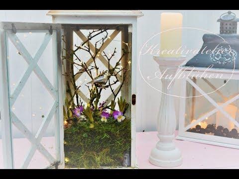 DIY: Blumen-Deko in der Laterne - Übergang Winter/Frühling - selber machen