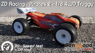 • ZD Racing - Pirates 2 - 1/8 4WD Truggy - 3s Speed test •