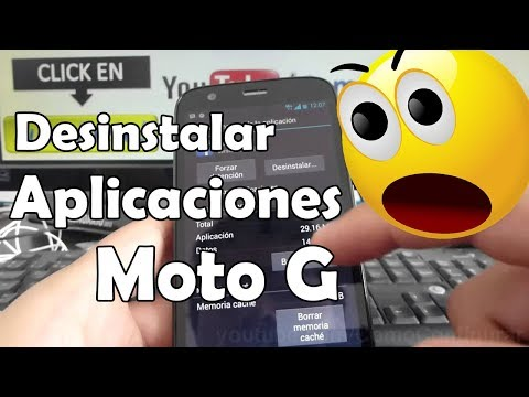 Cómo desinstalar las aplicaciones Motorola Moto G XT1032 En Español YouTube Full HD
