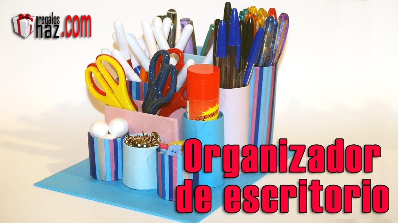 Diy organizador para escritorio de material reciclado - Organizador escritorio ...