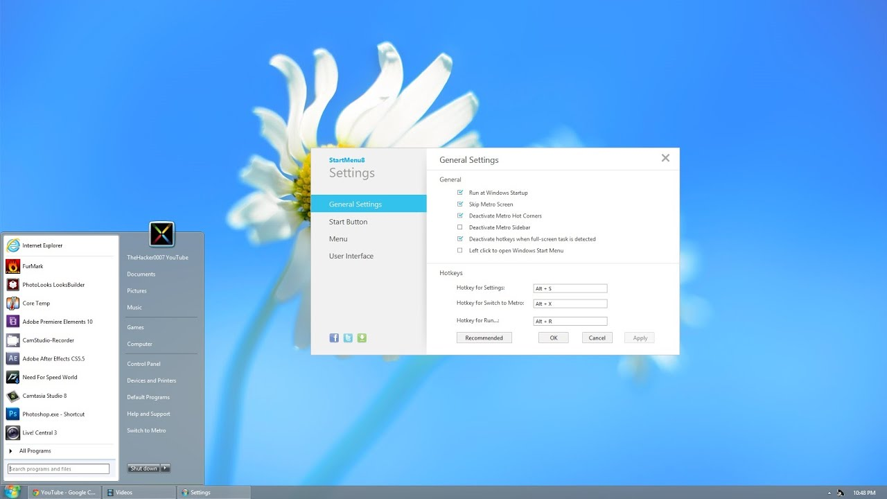 WatFile.com Download Free Start Menu 8 - Best Windows 8 Start Menu - Free - YouTube