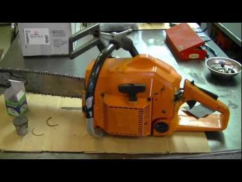 Repair of Husqvarna 154 Chainsaw By Sanding The Cylinder