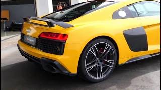 2019 AUDI R8 engine V10 PLUS - Sound, Test Drive, and, Review. PERFECT SEDAN !