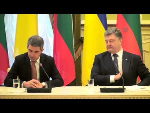 Bulgarian President Rosen Plevneliev in Ukraine
