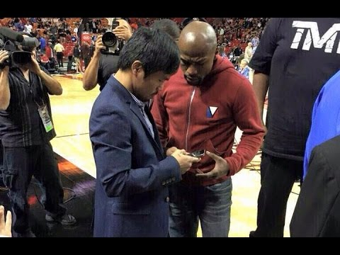 FLOYD MAYWEATHER MEETS MANNY PACQUIAO FACE TO FACE