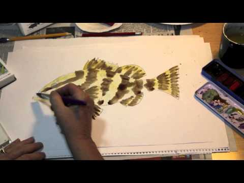 How to Paint a Fish the Easy Way - Nassau Grouper