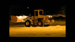 Volvo L90E Plowing Snow