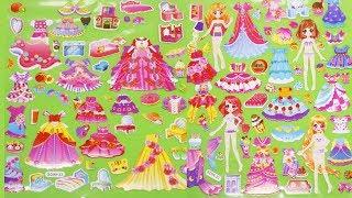 Đồ chơi hình dán Sticker, thay trang phục cho 4 nàng công chúa xinh đẹp | Ngôi nhà trẻ thơ
