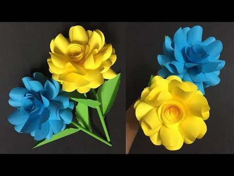 How to Make Paper Rose Flower | Making Paper Flowers Step by Step | DIY-Paper Crafts