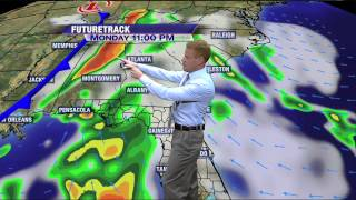 Front arrives Tuesday; Also watching the tropics