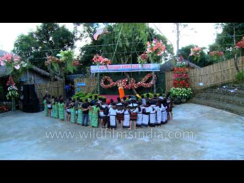 Mizo youth enjoying song: Anthurium Fest