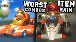 The Quest for the WORST Vehicle in Mario Kart Wii Item Rain