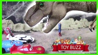 DINO WARS - EPISODE 2 - Dinos vs Disney Cars + Superheros
