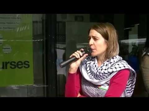 Caroline Day speaks at Boycott, Divest and Sanction Israel Protest 27/09/2014