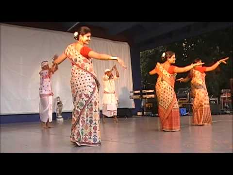 QUEENSLAND ASSAMESE ASSOCIATION- Bihu Dance at Roma Street Parklands...