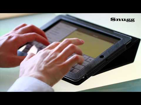 Snugg iPad 2 Case, with Flipstand and Smart Cover Function for the Apple iPad 2, black