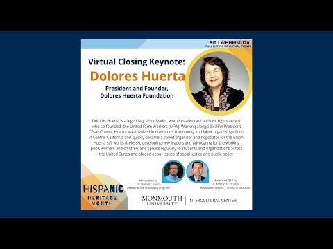 Hispanic Heritage Month Closing Speaker Dolores Huerta. - YouTube