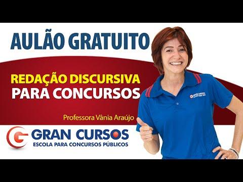 Aulão Grátis de Redação Discursiva para Concursos - Profa. Vânia Araújo