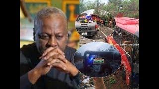 John Mahama breaks silence on the kintampo accident
