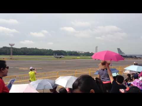 Republic of Singapore Air Force Open House 2016: F-15SG Taxiing to Stand