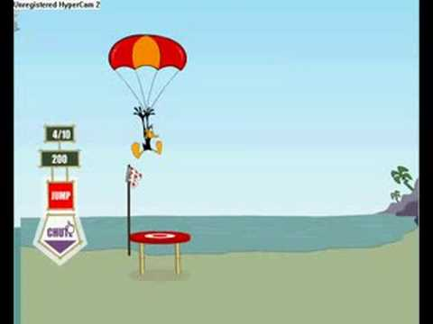 daffy duck parachute lander game