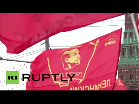 Russia: Communist Party celebrates International Worker's Day with Moscow rally