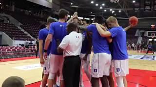 Duke Basketball Pregame Drills