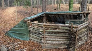 Building A Super Shelter In The Woods (Part 2)
