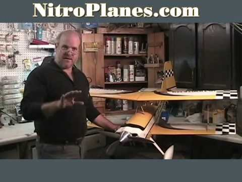 Fly a Ultimate 120 Nitro RC Bi-Plane w/ Hot Smoking Trail