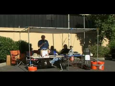 Phil Stripling AF6WI mobile HF amateur ham radio station K6M at 2012 Maker Faire Bay Area